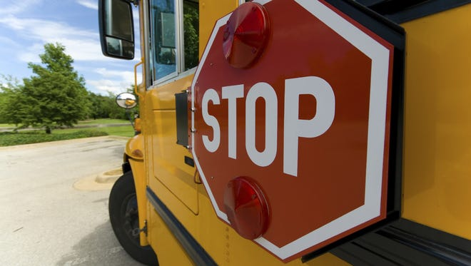 Bicyclist taken to hospital after collision with school bus