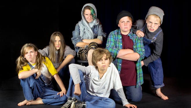 """Asheville Community Theatre's updated production of """"The Best Christmas Pageant Ever"""" runs Dec. 4-20 and features 31 local cast members. Pictured are Katie Purnell, Rohan Myers, Nora Flynn-McIver, Will Cowan, Alex Gast and Sam Collett."""