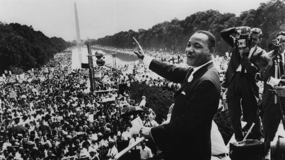 Martin Luther King, Jr., at the March on Washington.
