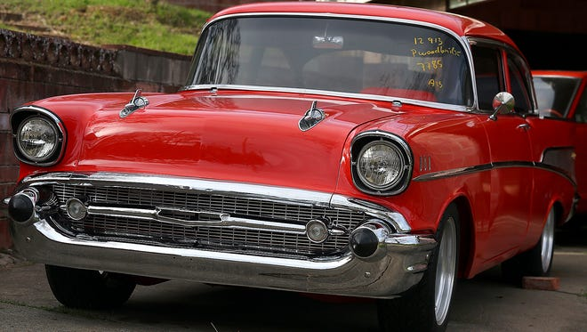 Skip Wilson's 1957 Chevrolet Bel Air was stolen in 1984 and returned by the California Highway Patrol on Feb. 17, 2014, after U.S. customs inspectors in Los Angeles found it fully restored in a shipping container headed to Australia.