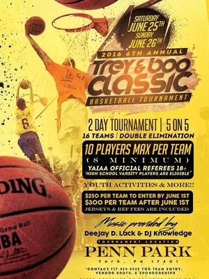 The flier for the Trey and Boo Classic Basketball Tournament.