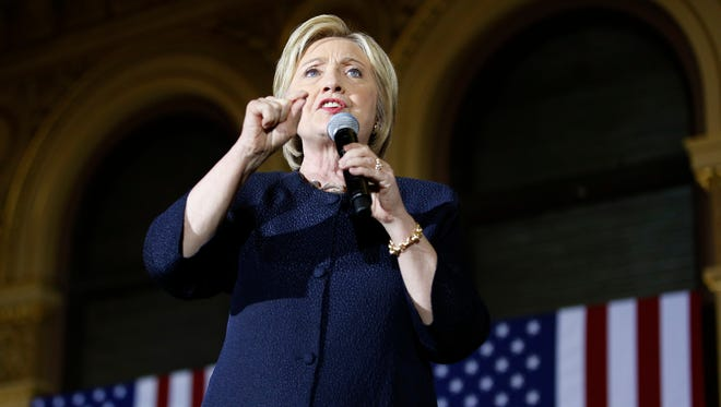 Hillary Clinton speaks at a rally on May 26, 2016, in San Francisco