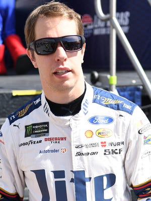 Brad Keselowski will lead the field to green Sunday at Michigan International Speedway, his home track.