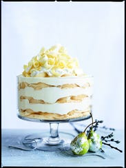 Layers of cake in a clear dish make this elegant trifle