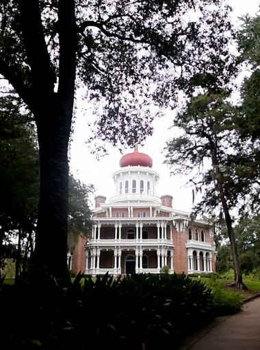 Longwood is a historic antebellum octagonal mansion located in Natchez, Mississippi that was left unfinished in 1861 at the start of the American Civil War.