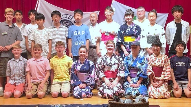 Students from Horseheads join their Japanese counterparts during a visit to Nakagawa, Horseheads' sister city.