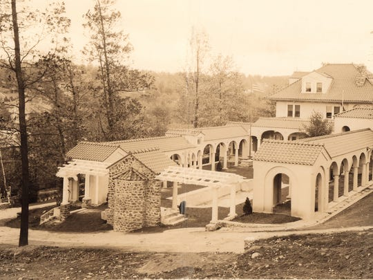 An old photo of 50 Lake Drive in Mountain Lakes, taken at an indeterminate time.
