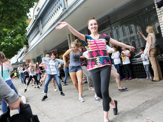 A flash mob dances during First Wednesday in September 2013. Could we rejuvenate First Wednesday and bring more life to downtown?