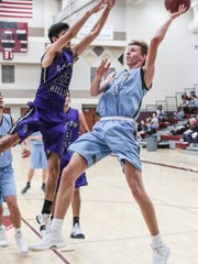 Rancho Mirage and Shadow Hills basketball action on