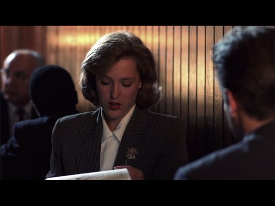 Gillian Anderson and David Duchovny in the new widescreen
