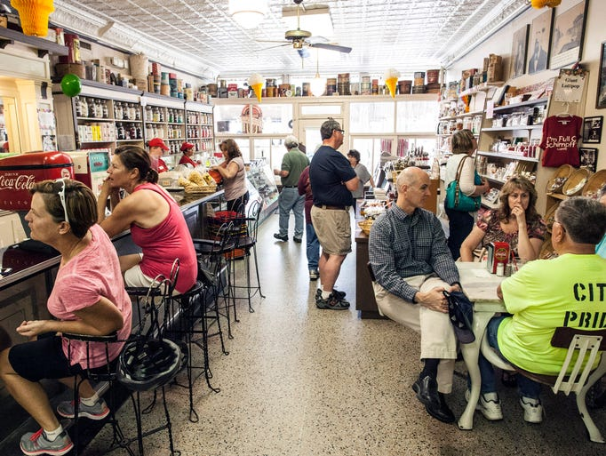 Schimpff's Confectionery at 347 Spring Street in Jeffersonville is a favorite destination spot for those that walk the Big Four Bridge.