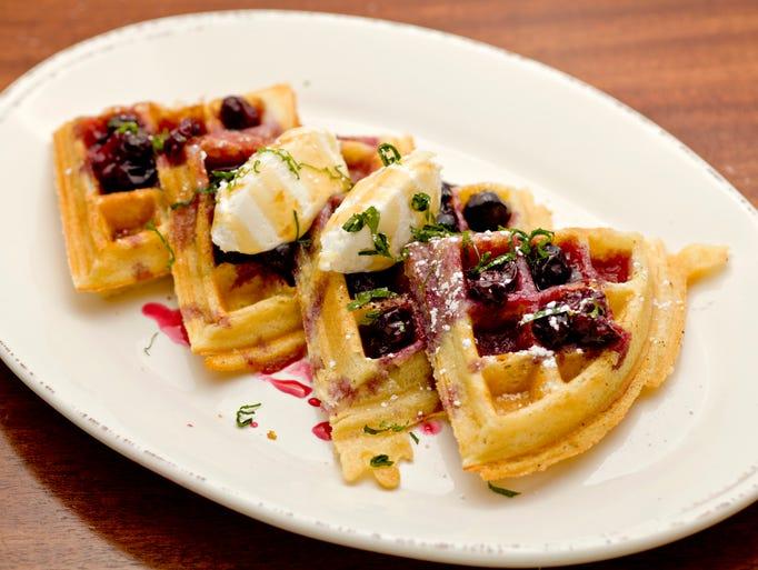 The lemon ricotta waffles from Chestnut in Phoenix.