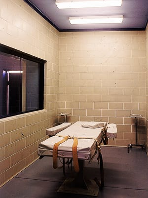 The lethal-injection execution chamber at the Arizona State Prison Complex-Florence, photographed in 1993.