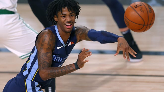 Ja Morant of the Memphis Grizzlies won the NBA's rookie of the year award with 99 out of 100 first-place votes.
