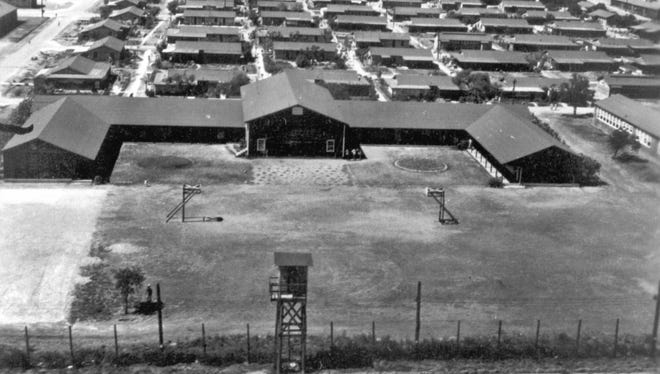 Federal High School at the Crystal City Internment Camp during World War II.