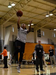 Sussex Tech varsity girls basketball practice on Thursday,