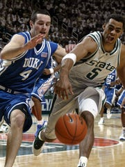Dec. 3, 2003, East Lansing, Duke 72, MSU 50: It wasn't pretty for the home team. The worst home loss at the Breslin since 1997 came, in part, due to Shelden Williams' 16 points. Chris Hill and Kelvin Tolbert scored just eight apiece to lead MSU.