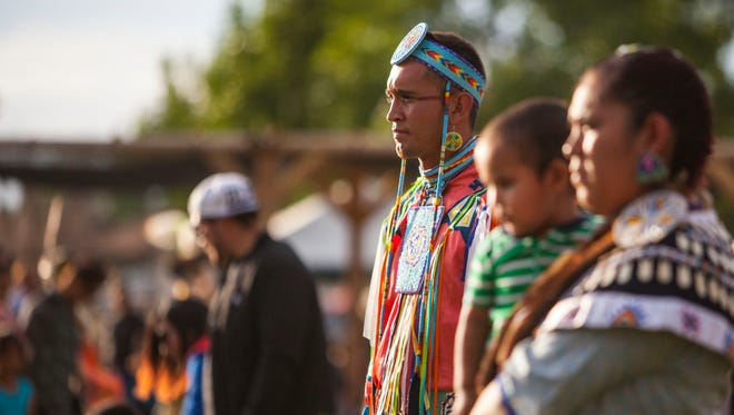 The 36th Annual Paiute Restoration Gathering and Pow Wow, Saturday, June 11, 2016. The Paiute Indian Tribe of Utah recently released a resolution in opposition of the Dakota Access Pipeline.