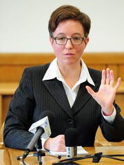 Speaker of the House Tina Kotek, D-Portland, answers a question during a legislative forum She and Senate President Peter Courtney issued statements Thursday urging the legislature to refrain from being distracted by the situation in Gov. John Kitzhaber's office.