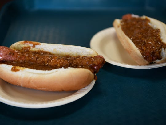 Hot dogs from The Hot Grill in Clifton. The restaurant opened on October 13, 1961.