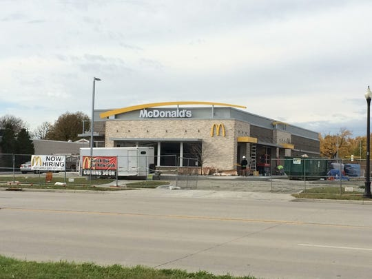 The new McDonald's in the 2400 block of South Oneida Street is nearing completion.