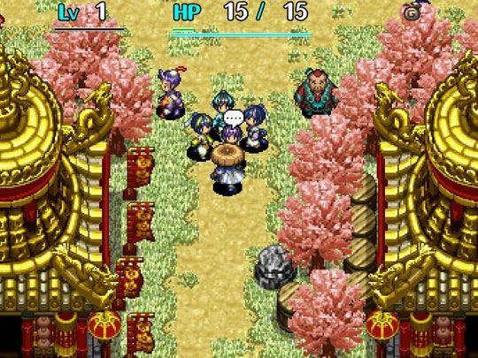 Shiren the Wanderer: The Tower of Fortune and the Dice of Fate features classic, old-school sprites.