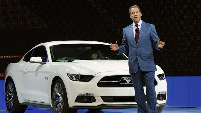 Ford Executive Chairman Bill Ford reveals the 50-Year Limited Edition Mustang for 2015.