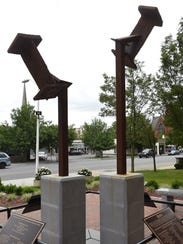 A view of the City of Poughkeepsie's 9/11 memorial