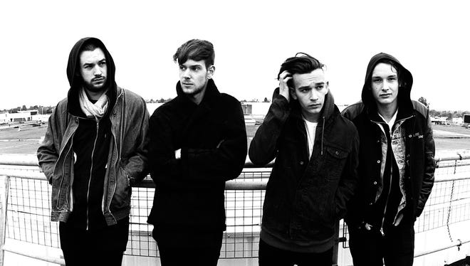 Meet The 1975: Ross MacDonald, left, Adam Hann, Matthew Healy and George Daniel. They have a hit single out, 'Chocolate,' off their self-titled debut album.