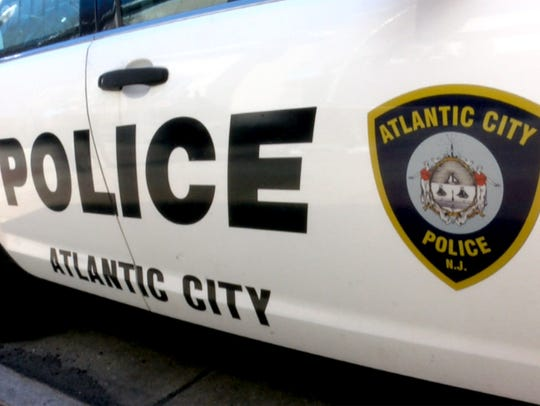 An Atlantic City Police vehicle is shown outside police