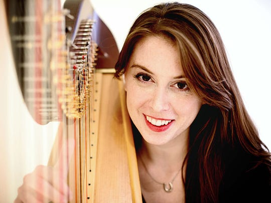 "Harpist Caroline Cole appears with the Las Cruces Symphony at NMSU in concerts Saturday and Sunday at Atkinson Hall.  Cole has received numerous awards and has been praised for her ""breathtaking"" performances."