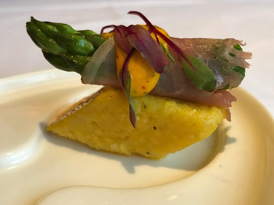 At the Toast & Taste of Summer fundraiser on June 15, Bistro Napa in the Atlantis, the host property, is serving prosciutto-wrapped asparagus spears on crisp polenta cushions.