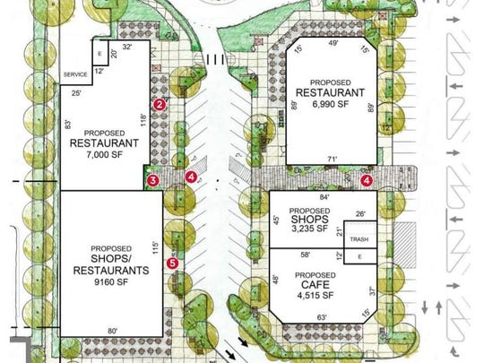 A hand-drawn design showing how the Tacoma Mall might