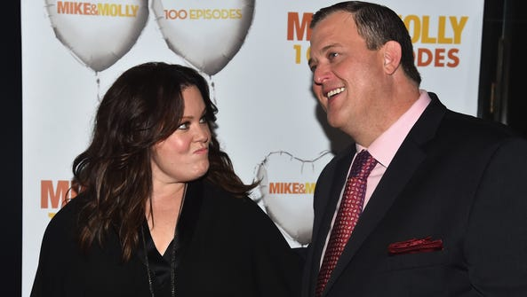 """Melissa McCarthy and Billy Gardell attend CBS's """"Mike"""