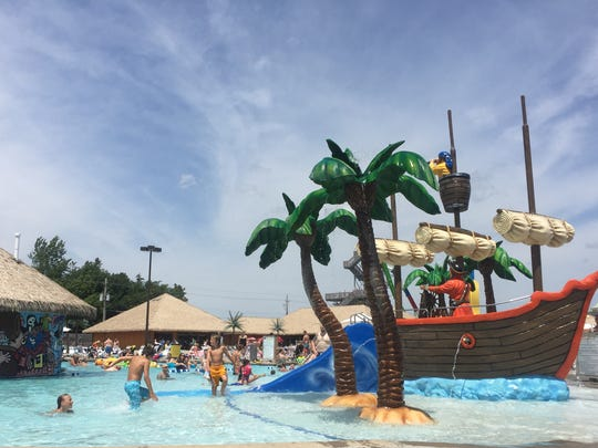 AdventureBay is a waterpark located inside at Adventureland