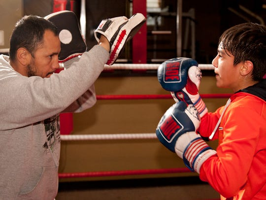 Marcos Ramirez trains with Hector Alatorre at VCD Boxing