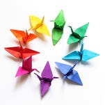 For a daily spiritual practice, fold origami paper cranes — one each day for 40 days.