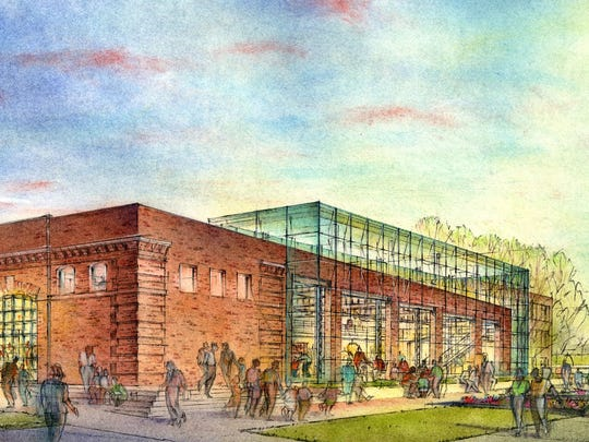 This artist's rendition from 2005 shows a plan for a renovated Carriage House serving as a Capitol museum. The Carriage House is instead now being torn down.