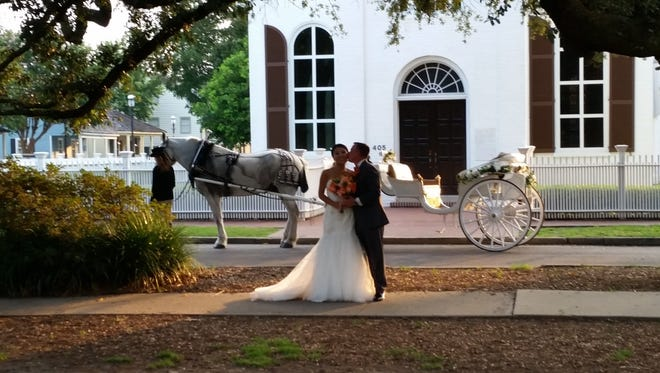 Carriages of Pensacola, 850-304-1069, www.carriagesofpensacola.com. Uniformed drivers and footmen in horse-drawn carriages bring a touch of Victorian grace to weddings, receptions and other wedding-related events.