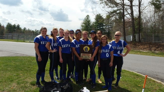 Brevard won the Grand Strand Softball Classic earlier this month in Myrtle Beach, S.C.