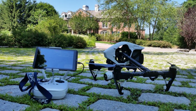Vinny Garrison's quadcopter and monitor were used while filming at a house for sale in Rockland County.