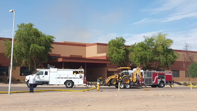 A large nut-roasting oven caught fire at this Phoenix facility.