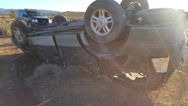 A St. George man was killed Monday after rolling his SUV off a dirt road in the Arizona Strip.