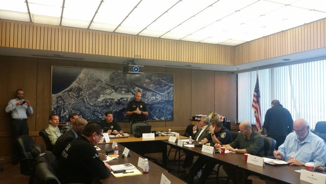Monterey Airport  police, federal agents and other conduct an active shooter tabletop exercise.