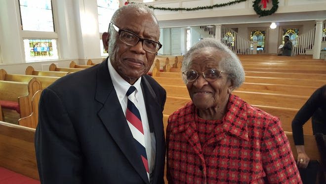 Mineola Dozier Smith (right) and Fred Gray (left) were both involved in the civil rights movement and Montgomery bus boycott.