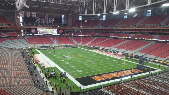 Clemson and Alabama will collide in Monday night's College Football Playoff at University of Phoenix Stadium in Glendale, Ariz.