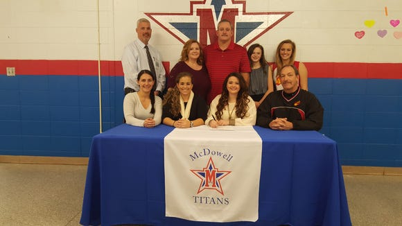 McDowell senior Haley Gowan has signed to play college softball for South Carolina Aiken.