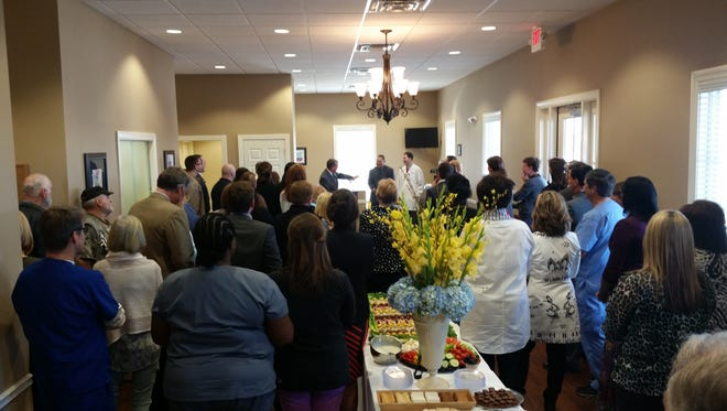 A ribbon cutting was held for Glenwood Regional Medical Center's new Internal Medicine and Pediatrics Clinic Thursday. The clinic is located at 9052 Hwy 165N in Sterlington. Leading to ribbon cutting was clinic director Dr. Billy G. Branch and his staff.