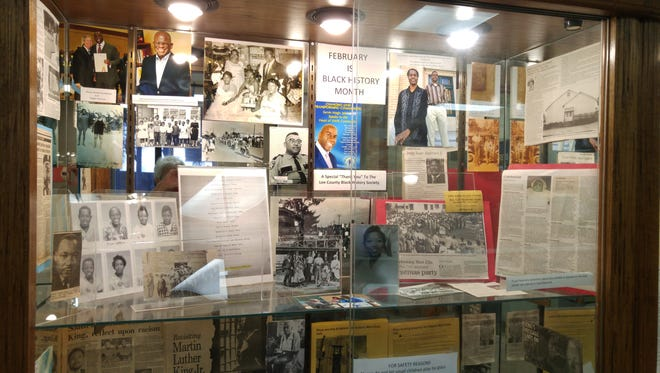 The Black History Month display of rare and precious photos and documents celebrates courage and achievement.