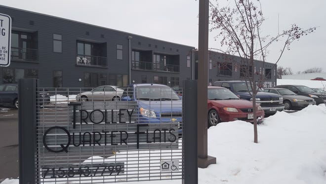 Apartment 112 at Trolley Quarter Flats, shown here on Feb. 15, 2016, is considered a chronic nuisance by Wausau Police after a drug trafficking arrest there in December.